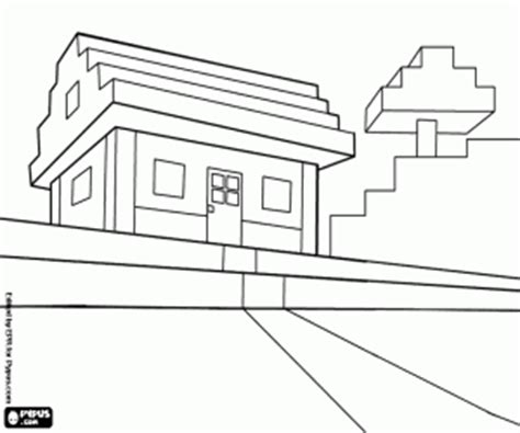 coloring pages of minecraft houses minecraft coloring pages printable games