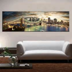 living room canvas modern landscape painting the brooklyn bridge canvas