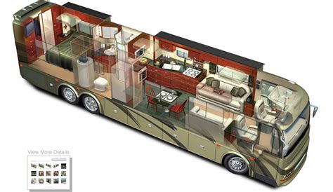 Fleetwood Bounder Floor Plans 3d rv motorhome cutaway 169 acme 3d com