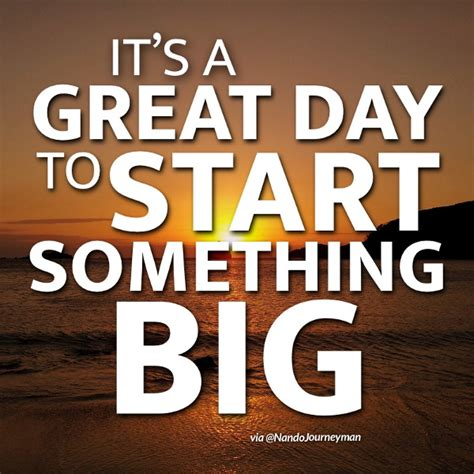 in the beginning a start to a strong finish books it s a great day to start something big