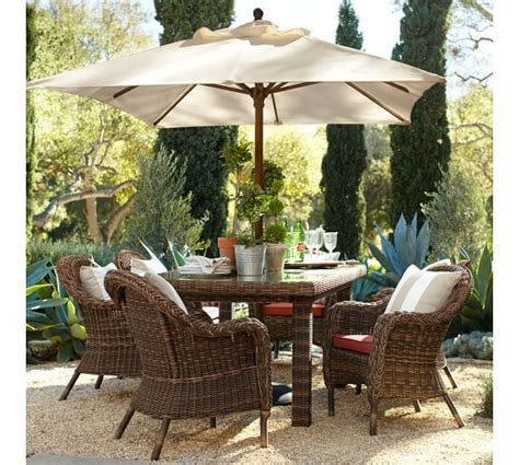 Pottery Barn Patio Umbrella Rectangular Market Umbrella Solid Pottery Barn
