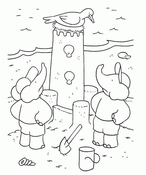 coloring page of sand castle sand castle coloring page coloring home