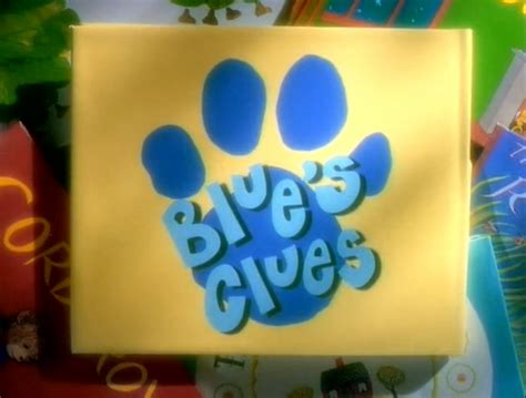 5 little clues 1 word 1 4 jpg image blue s clues season 1 4 closing logo jpg blue s