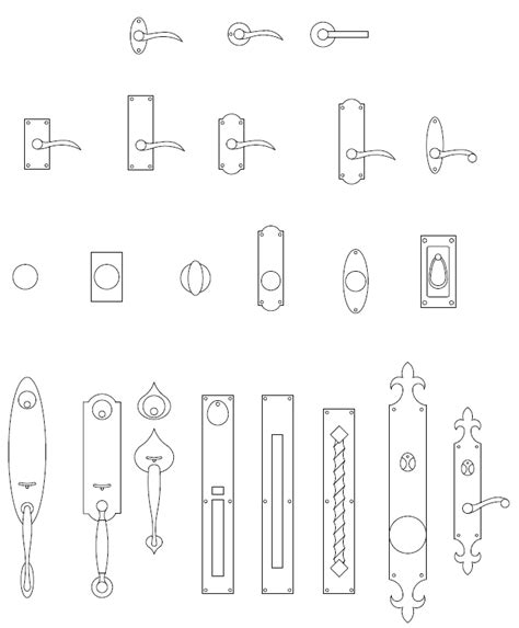 cabinet hardware cad blocks archblocks autocad door hardware block symbols interiors