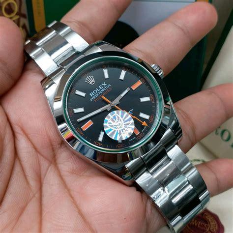jual jam tangan pria merk rolex milgauss automatic clone