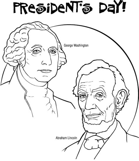 presidents day coloring pages preschool preschool presidents day coloring pages holidays