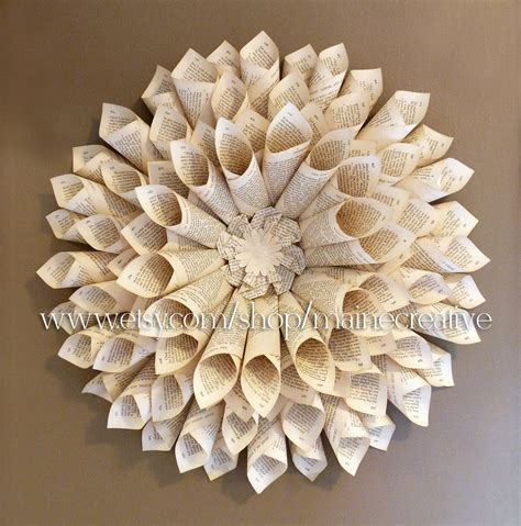 How To Make Paper Sculptures At Home - bookpage wallflower 3 dimensional eco friendly recycled