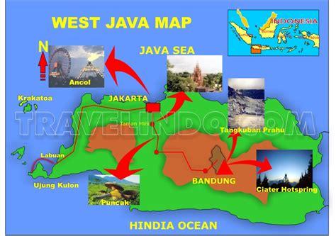 map of bandung city travelindo indonesia travel