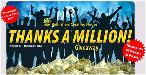Win 10 Million Pch - million dollar sweepstakes entry 2014 autos post