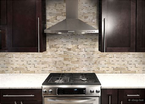 brown backsplash tile brown kitchen cabinets with white subway tile quicua