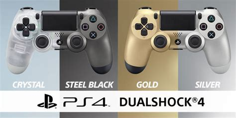 Dualshock 4 Silver ps4 s new steel black silver and gold dualshock 4 controllers are just splendid