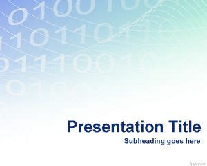 binary powerpoint template digital binary powerpoint template ppt template
