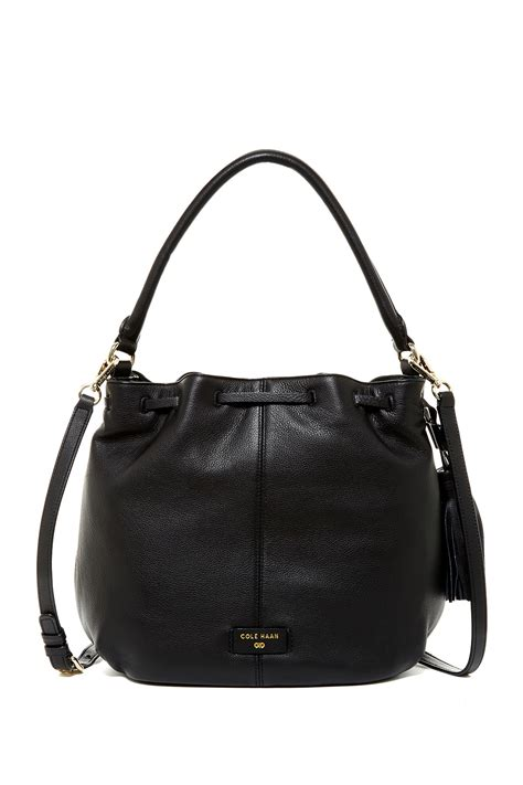 Cole Haan Kaylie Bag by Lyst Cole Haan Anisa Leather Crossbody Bag In Black