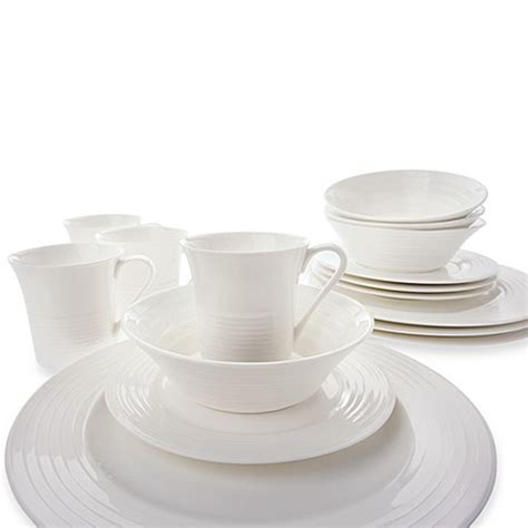 bed bath and beyond dishes maxwell williams white basics cirque 16 piece flared