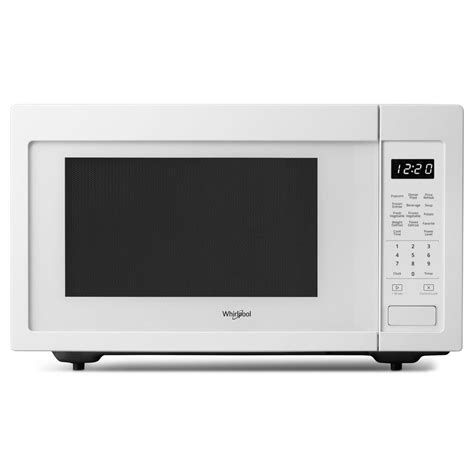whirlpool 1 6 cu ft countertop microwave in white with