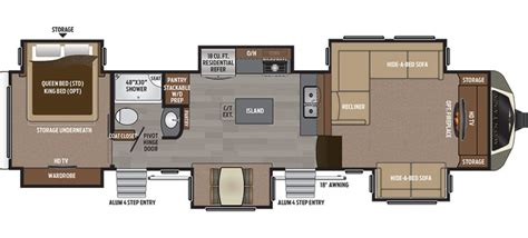 keystone rv floor plans keystone floor plans new 2017 keystone montana 3711fl fifth wheel for sale