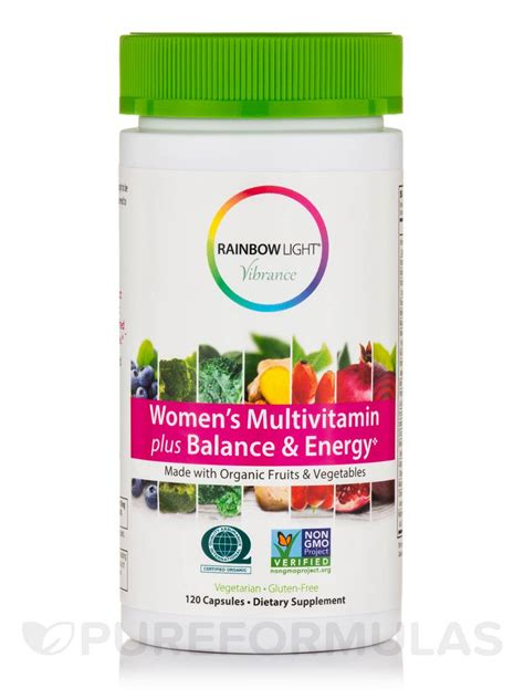 rainbow light women s multivitamin women s multivitamin plus balance energy 120 capsules