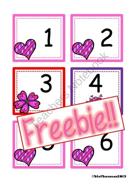 printable calendar numbers patterns freebie february calendar cards aabc pattern product from