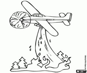 water plane coloring page fire fighting aircraft in action coloring page printable game