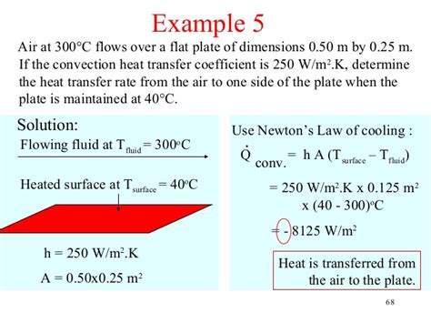 convective heat transfer coefficient of air at room temperature heat transfer