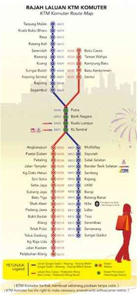 Ktm Route Ktm Komuter Map Map Travel Holidaymapq