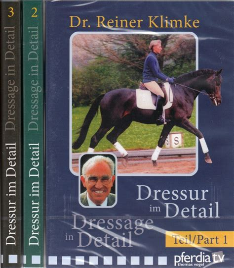 elementary equitation principles of horseback classic reprint books 3 volume dvd set dressage in detail by dr reiner klimke