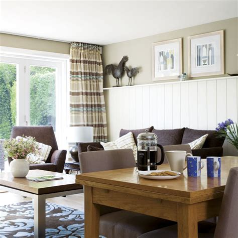 Living Room Ideas Uk Brown Sofa Chocolate Brown And Teal Living Room Ideal Home