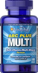 abc plus multivitamin and multi mineral formula 100 caplets multivitamins supplements