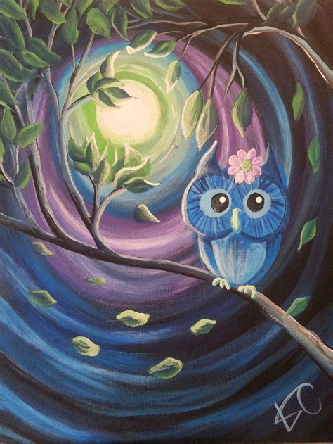 paint nite owl 25 best ideas about owl canvas paintings on