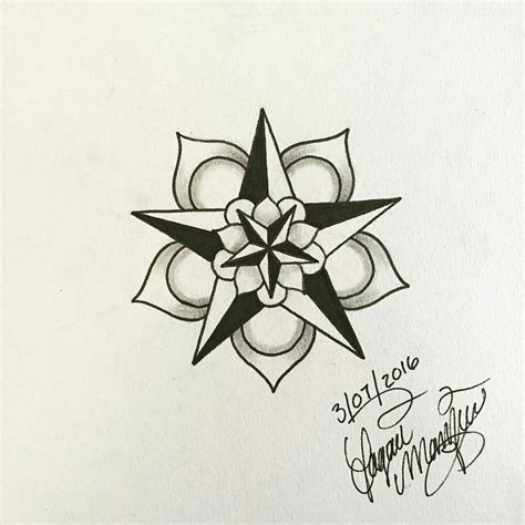 tattoo freehand pen small mandala tattoo design for my sister
