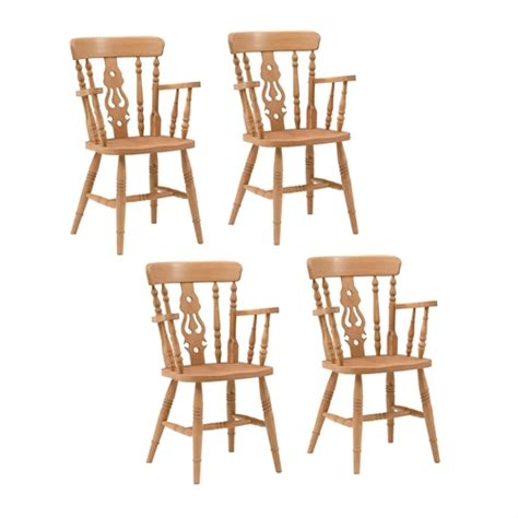 Fiddle Back Carver Chairs by Farmhouse Pine Set Of 4 Fiddleback Carver Chairs Review