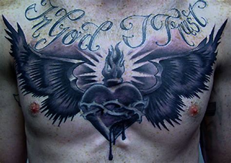 chest tattoo heart wings black heart with wings tattoo on chest tattooshunt com