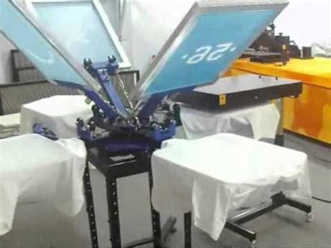 diy screen print india 4 color 4 station screen printing t shirt printing machine