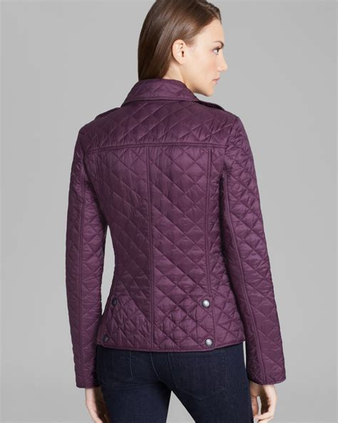 Quilted Jacket Burberry by Burberry Brit Kencott Quilted Jacket In Purple Lyst