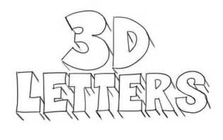 how to draw 3d letters