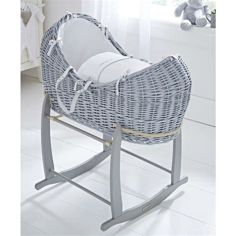 Moving Baby From Moses Basket To Crib Clair De Lune Grey Silver Lining Noah Pod Rocking Stand Leith Pram Centre