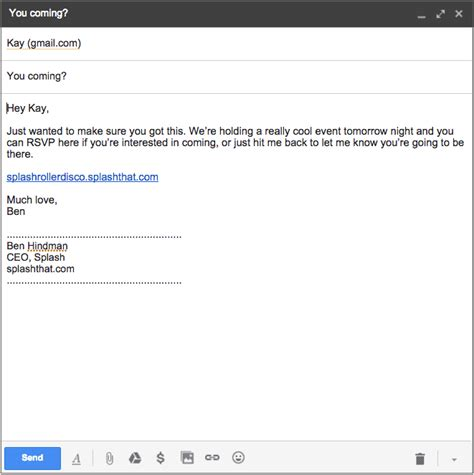 8 Reminder Emails That Actually Work Splash Gentle Reminder Email Template