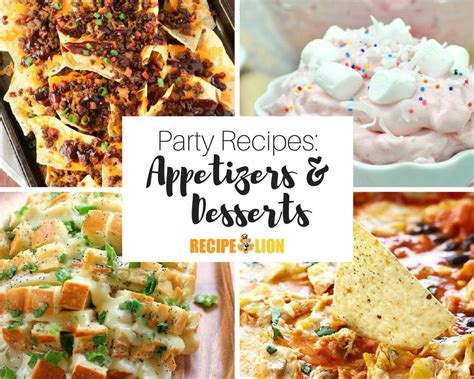 appetizers dessert 33 appetizer recipes and easy dessert recipes