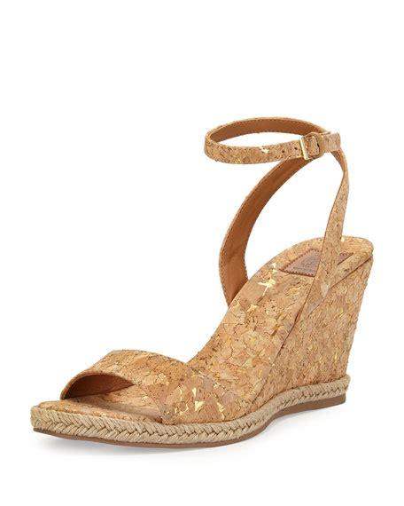 Wedges Simpel L2 Item Favorit burch marion quilted cork wedge sandal gold neiman