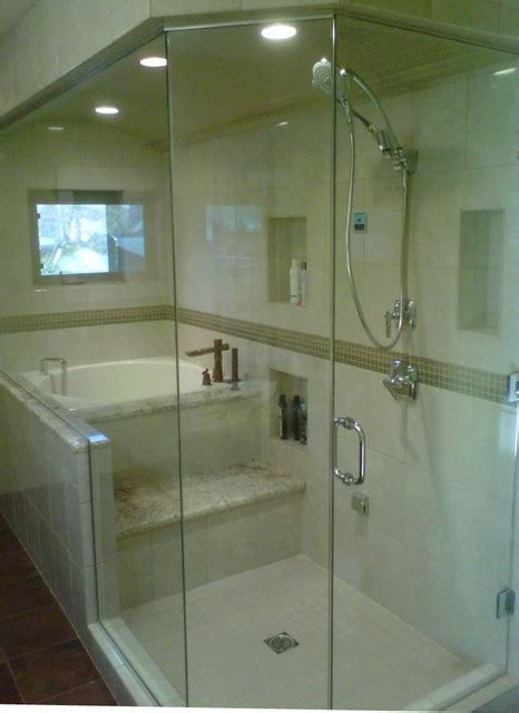 Bathroom Shower Tub Combo Eugene Steam Shower With Japanese Tub Contemporary Bathroom Other Metro By New Style