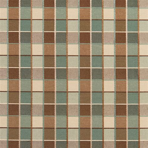 Expensive Upholstery Fabric by Teal Brown Checkered Luxurious Faux Silk Upholstery Fabric By The Yard Traditional