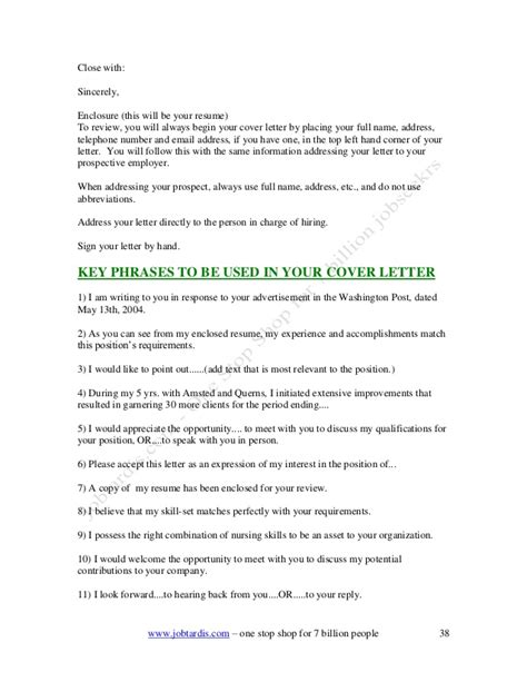 do you write enclosure at the bottom of a cover letter