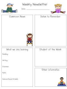 third grade newsletter template 1000 images about newsletters on weekly