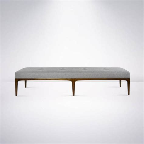 paul mccobb bench extra long paul mccobb style bench in grey wool at 1stdibs
