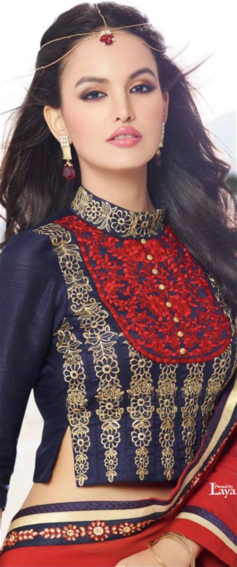 High Neck Blouse Designs   Trending 21 High Neck Designs