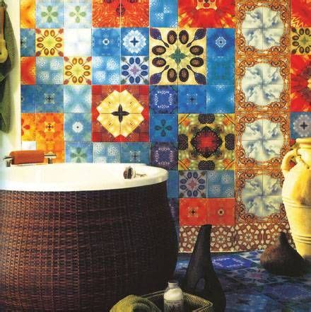 Colorful Tiles For Bathroom by Decorating Bathroom Walls With Colorful Tiles