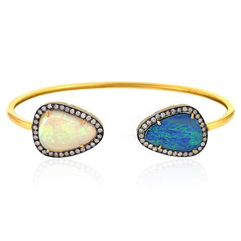 jewelry free shipping free shipping gold 7 9ct opal cuff bangle