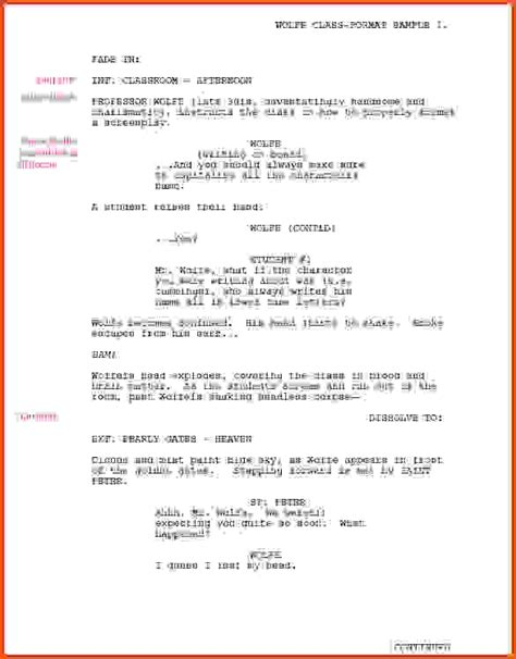 shooting script template word screenplay template shooting script how to format a screenplay learning the screenwriting