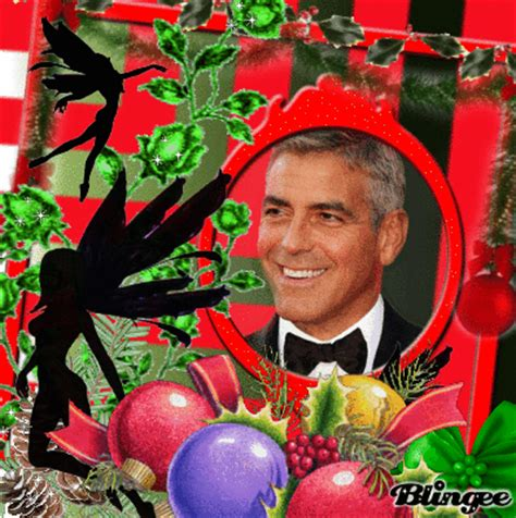 merry christmas george clooney picture  blingeecom