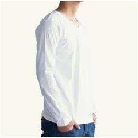 Baju Kaos Pria Henley Lengan Panjang Original 4 jual beli kaos polos lengan panjang xl size warna putih baru kaos baju t shirt pria